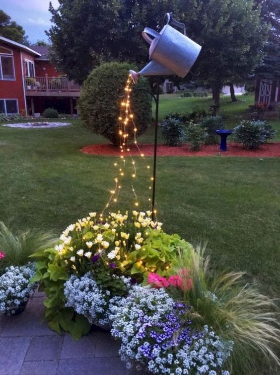 Watering Your Garden – With Beams of Lights