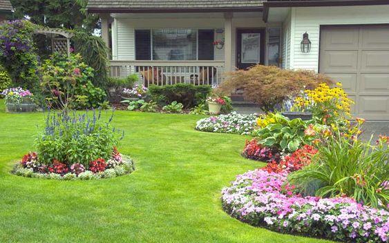 Islands of Flowers - Front Yard Garden Ideas