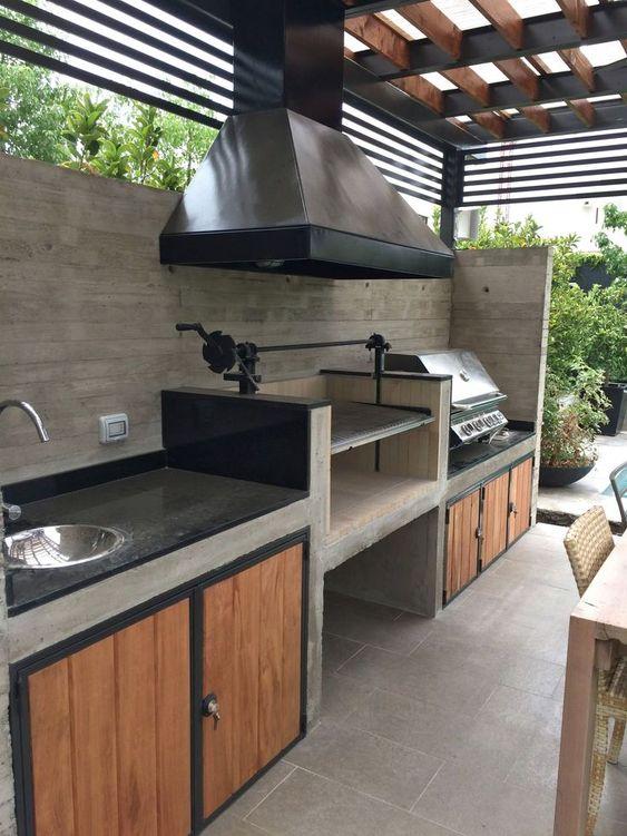 A Modern Essence - Outdoor Kitchen Cabinet Ideas