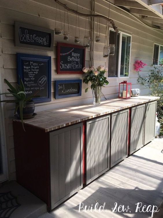 Cute Cabinets - With a Few Blackboards