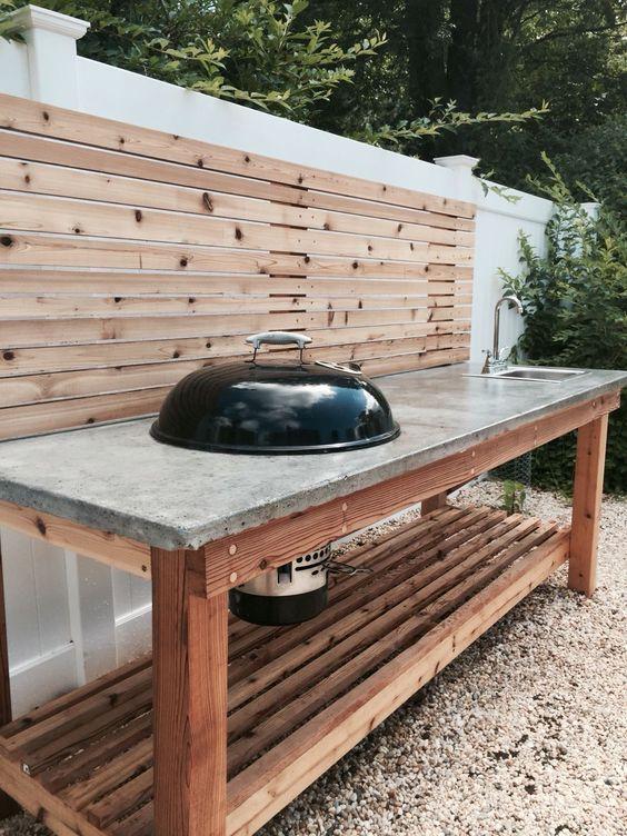 Adding a Grill Machine - Outdoor Kitchen Cabinet Ideas