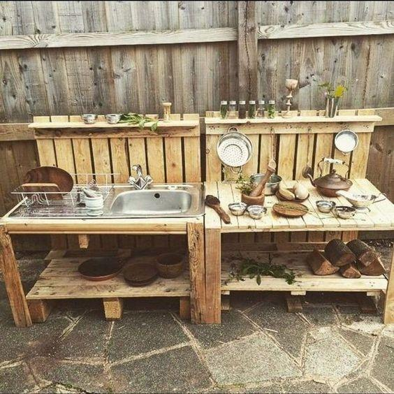 Reusing Old Crates - Outdoor Kitchen Cabinets