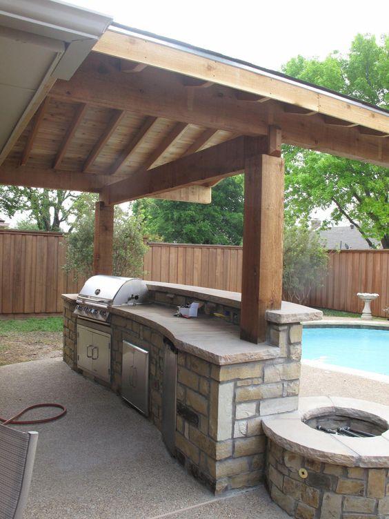 Stunning in Stone - Outdoor Kitchen Cabinet Ideas