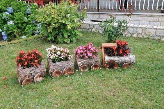 A Log Train - Transporting Flowers