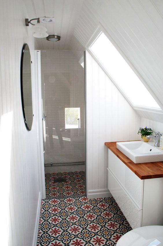 Adding a Bit of Colour - Small Bathroom Design Ideas