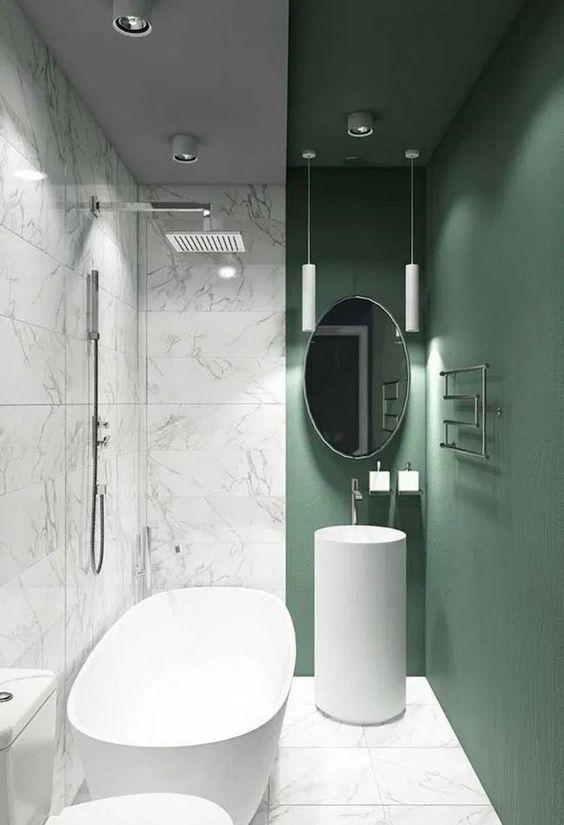 Marvellous in Marble - Very Small Bathroom Ideas