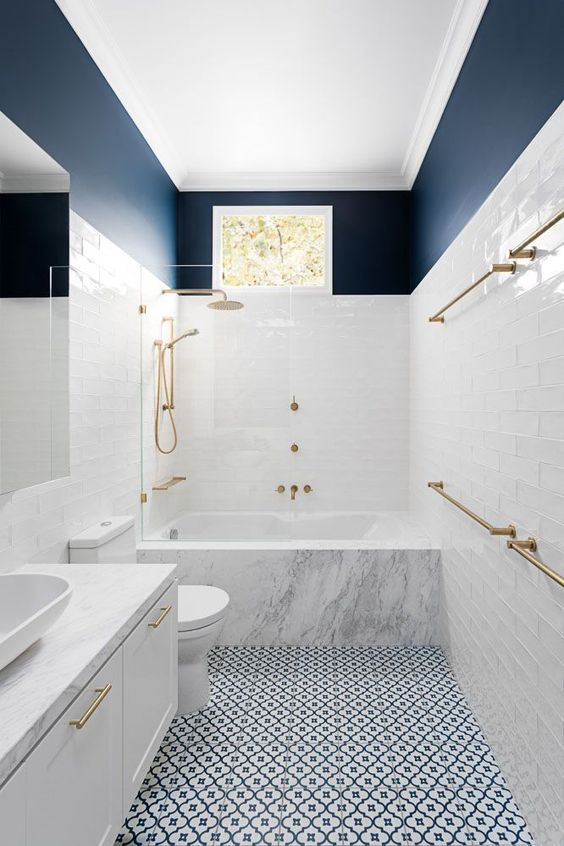 Sophisticated and Stylish - Navy Blue and White