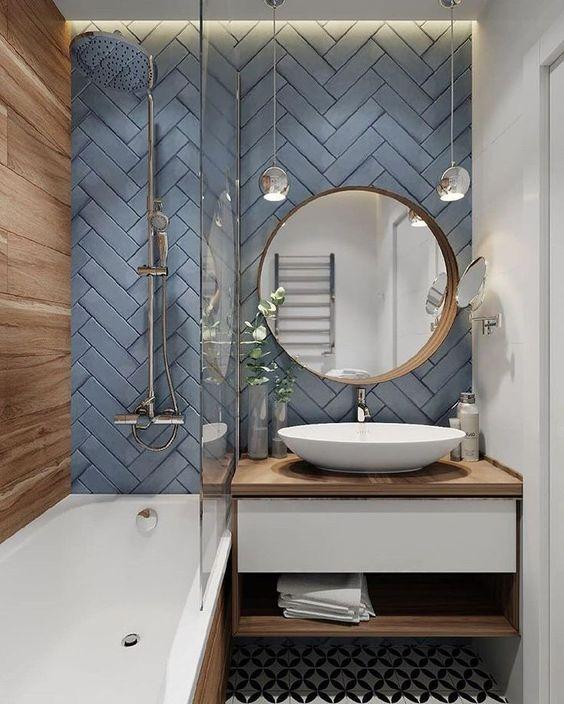 A Unique Combination - Small Bathroom Design Ideas