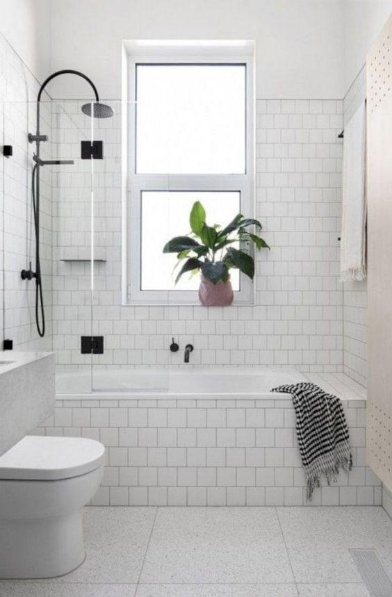 Bright in White - Very Small Bathroom Ideas