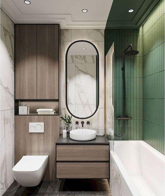 Combining Materials – Marble, Wood and Tiles
