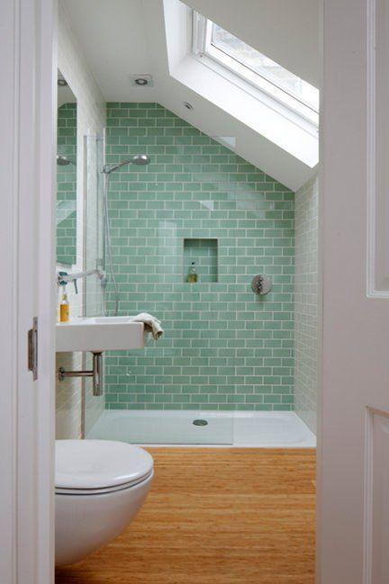 Natural and Earthy - Green Tiles and Wood