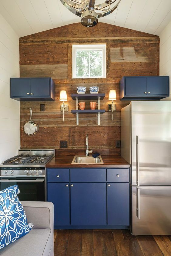 Inspired by Wood - Small Kitchen Design Ideas