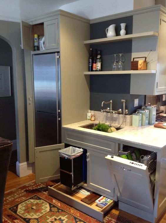 Fit in Everything - Small Kitchen Design Ideas