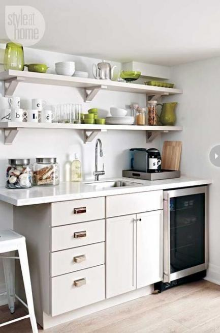 Go for Floating Shelves - Small Kitchen Design Ideas