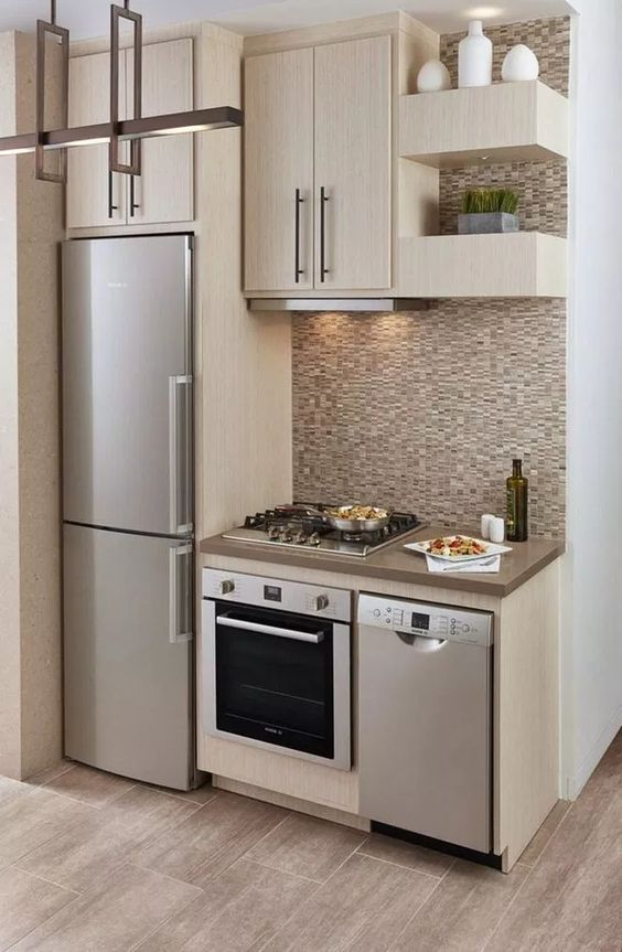 Sophisticated and Stylish - Modern Small Kitchen Ideas