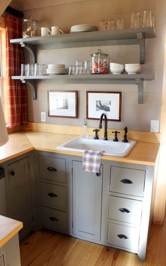 Add a Set of Floating Shelves - Extra Storage Space