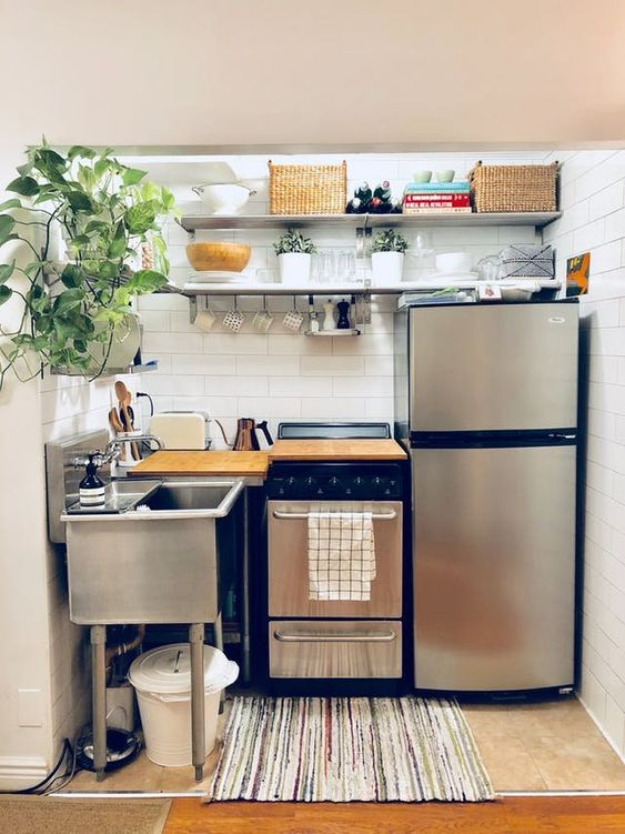 A Mini Kitchen - Small Kitchen Design Ideas