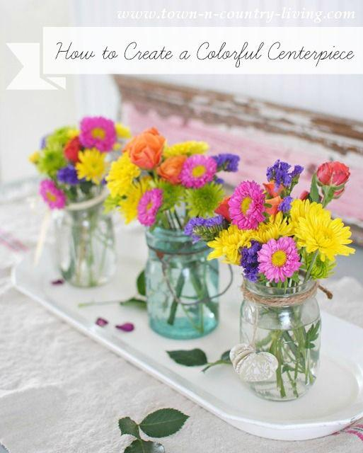 Colourful and Vibrant - Summer Table Decorations