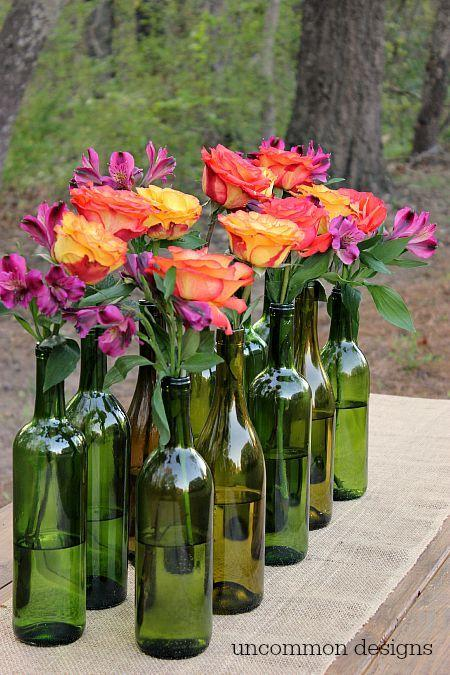 Reinvent and Recycle Wine Bottles - The Best Vases