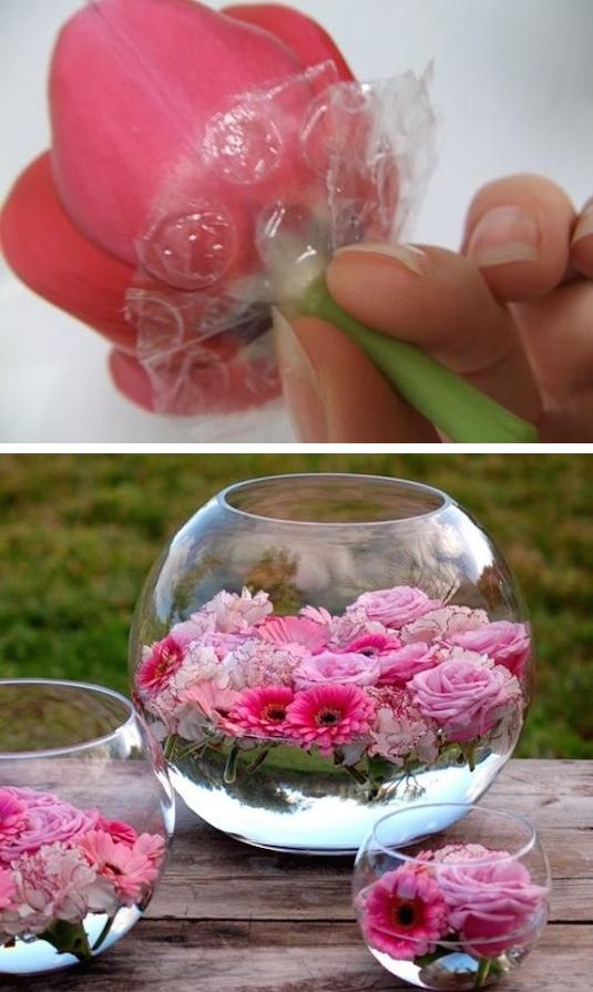 Floating on Water - Summer Table Decorations