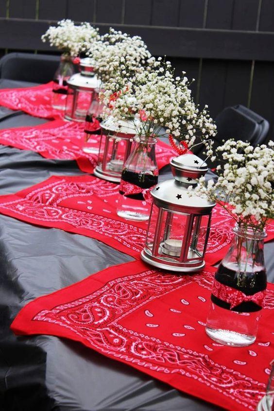 Incorporating Bandanas - Summer Table Settings