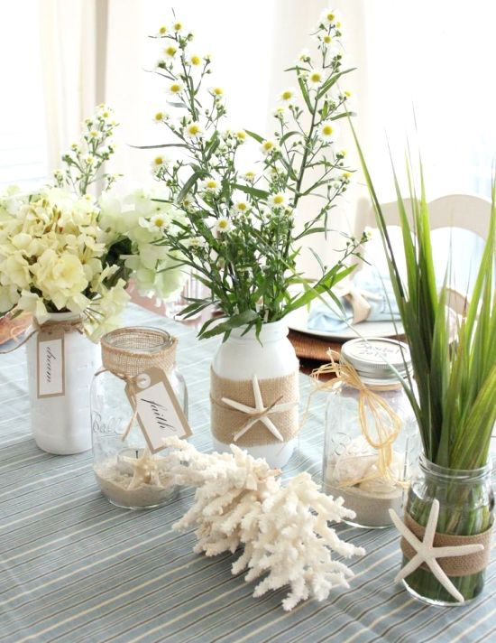 Seaside Vibes - Flowers and Shells