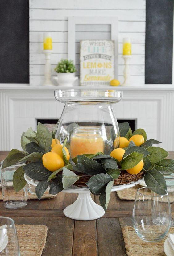 A Beautiful Candleholder - Summer Table Centrepieces