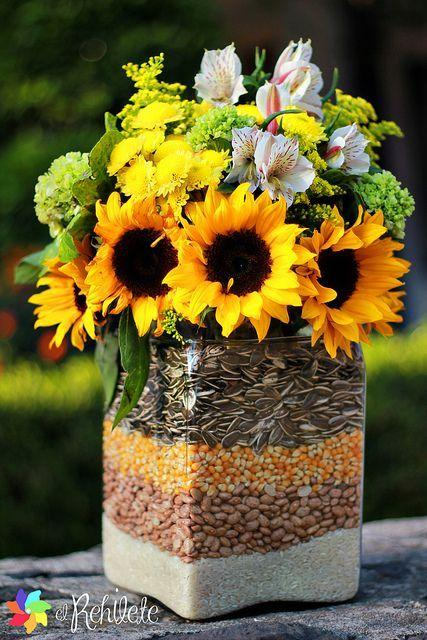 Seeds and Grains - Unique Summer Table Decorations
