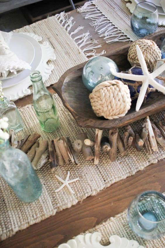 Inspired by the Ocean - Summer Table Centrepieces