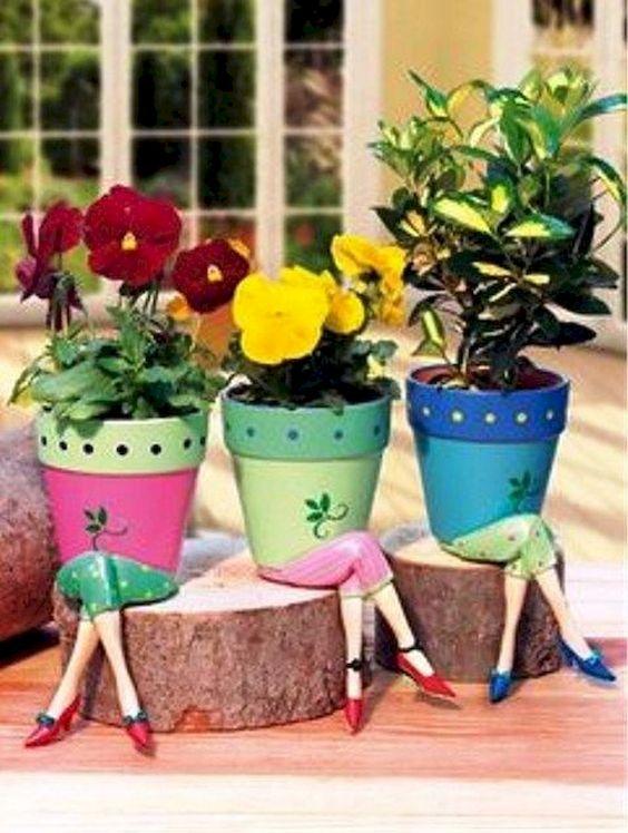 Pots with Legs – Funny Garden Ideas