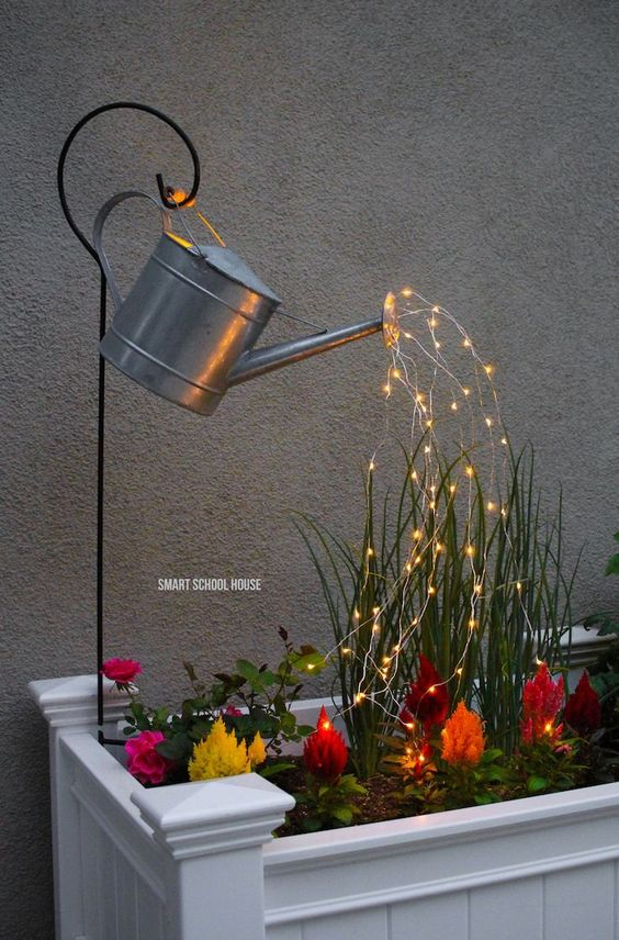 Cute with a Water Can – Adding Some Lights