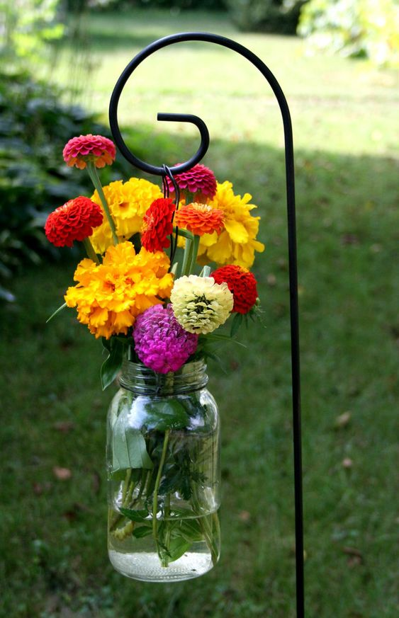 Hanging Mason Jars - Simplistic and Pretty