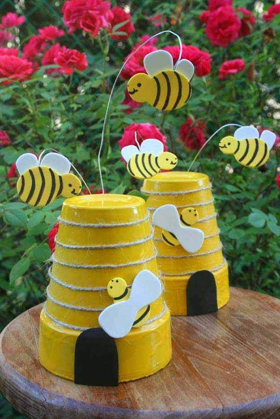 Busy Little Bees - Design and Decorate Flower Pots