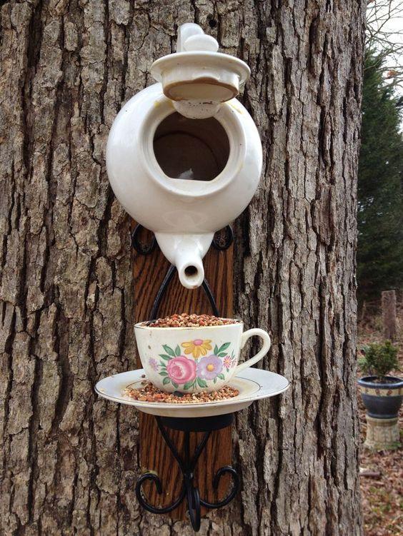 A Cup of Tea – A Creative Bird Feeder