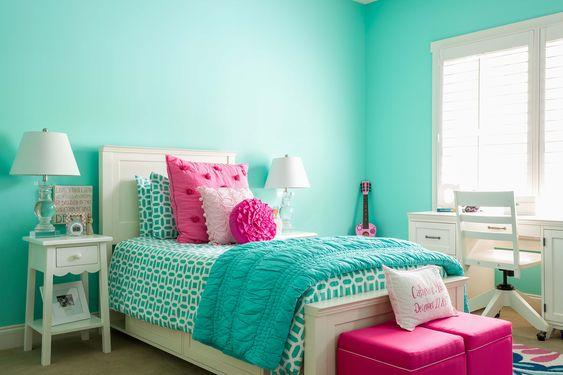 Beautiful in Blue – Teenage Girl Bedroom Ideas for Small Rooms