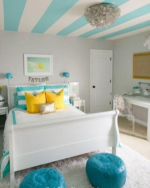 A Burst of Yellow - Teenage Girl Bedroom Ideas for Small Rooms