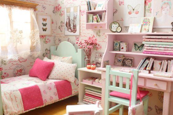 Brilliant Butterflies - Teenage Girl Bedroom Ideas for Small Rooms