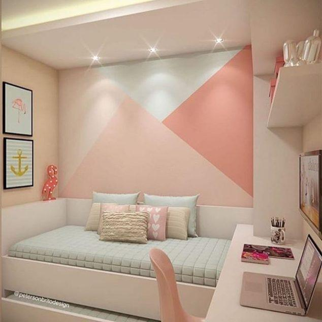 Pink Triangles - Girl Bedroom Decor Ideas