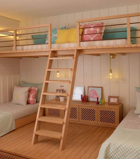 Creating a Loft - Teenage Girl Bedroom Ideas for Small Rooms