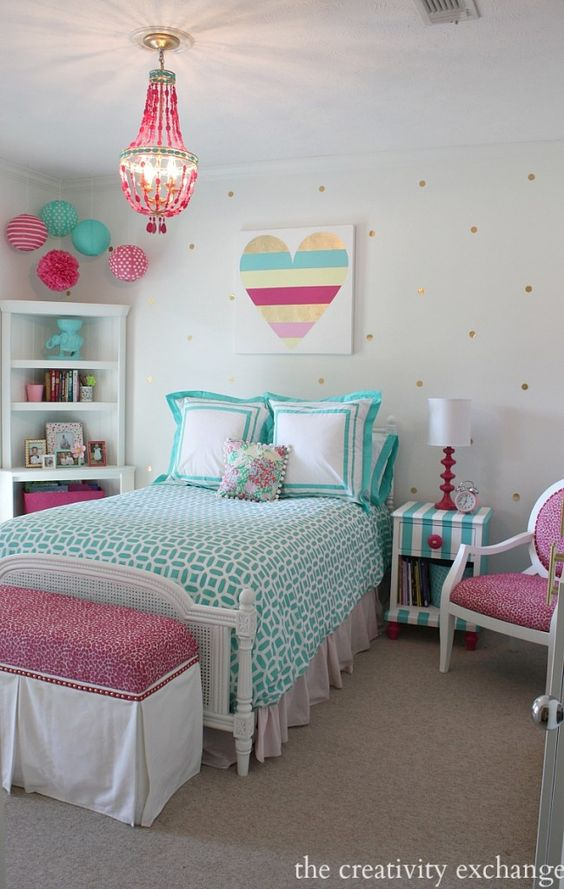 Fantastic Patterns - Teenage Girl Bedroom Ideas for Small Rooms
