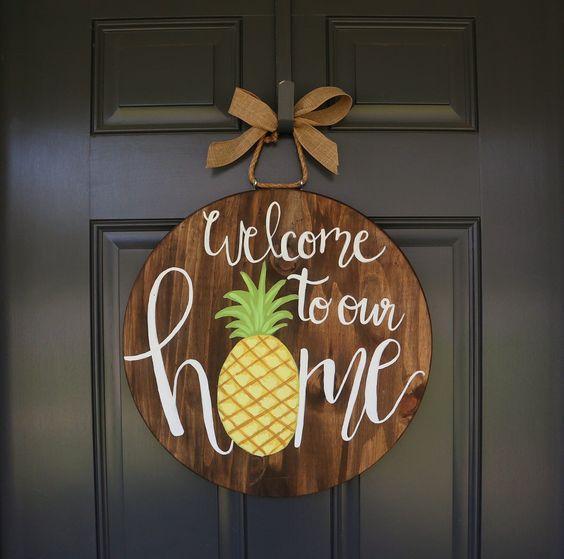 Inspired by Pineapples - Summer Door Wreaths