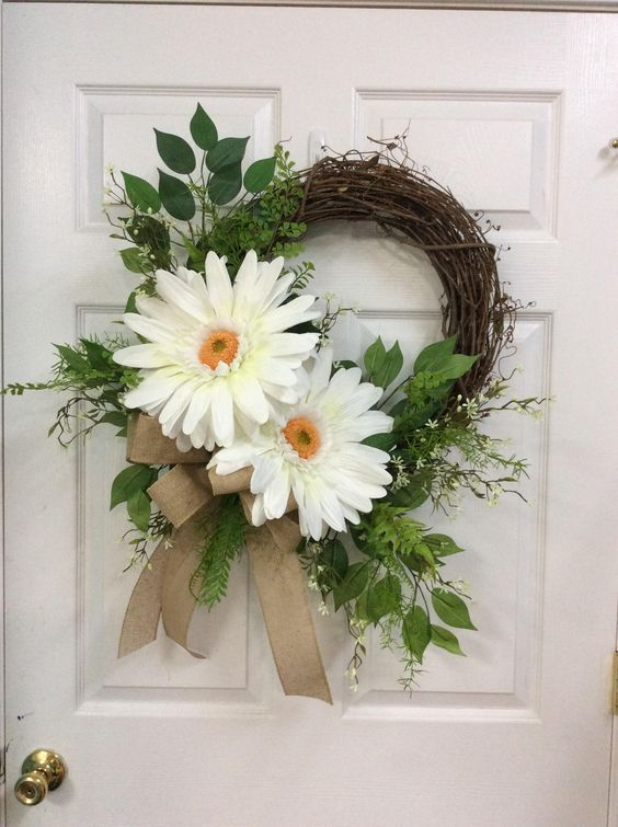 Jolly Gerberas - Summer Wreaths for Front Doors