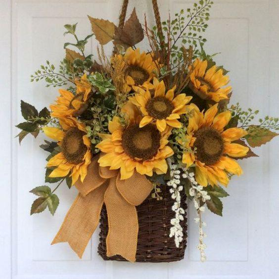 A Basket of Sunflowers - Nature's Gift