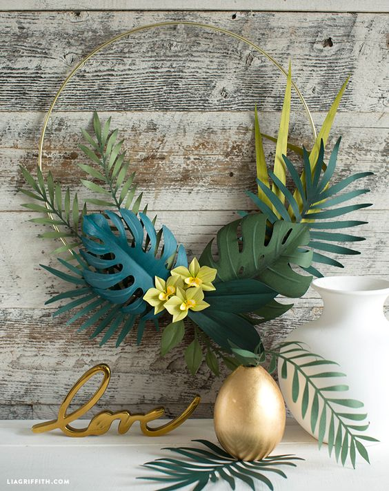 Minimalistic and Modern - Another Tropical Wreath