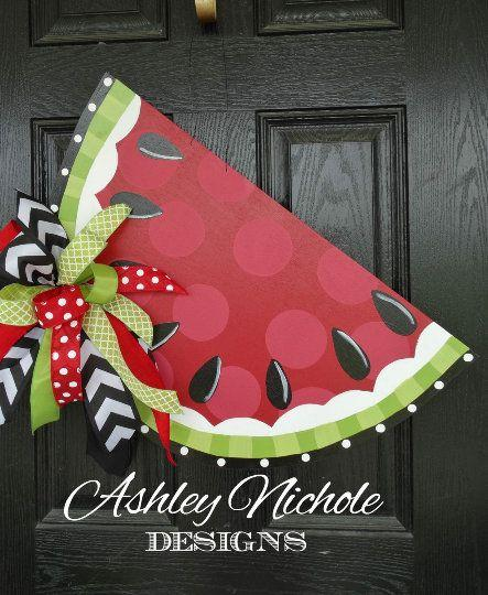 Wonderful Watermelons - Summer Wreaths for Front Door