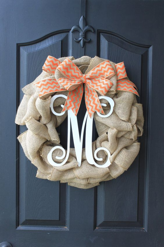 Covering It with Burlap - Amazing Summer Door Wreaths