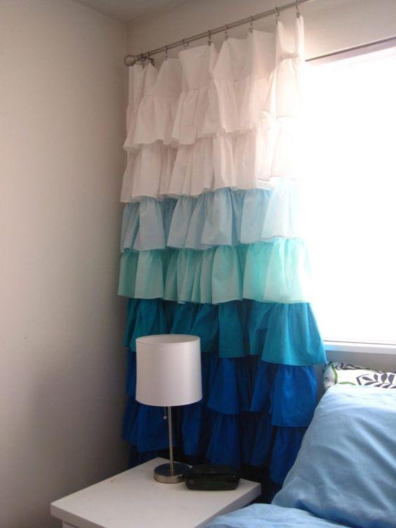 Ombre Ruffles – Cute Bedroom Curtain Ideas