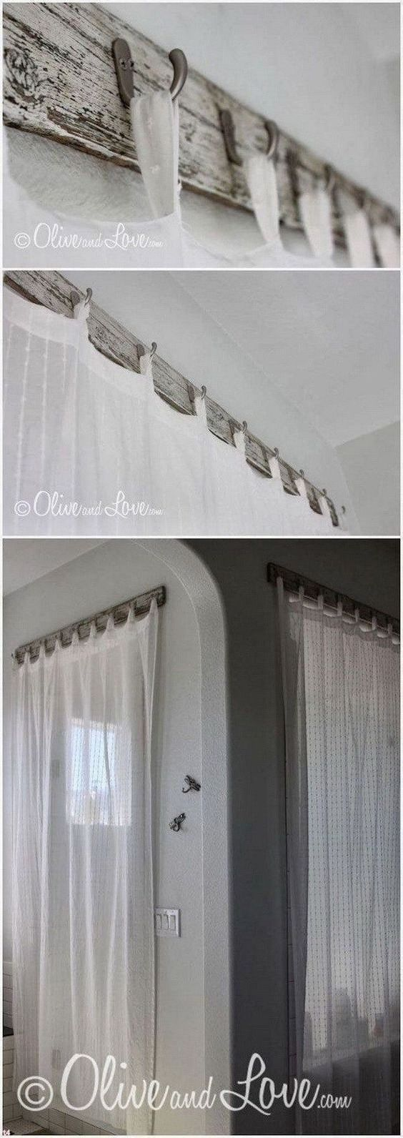 Create Your Own Curtain Hangers - A DIY Project