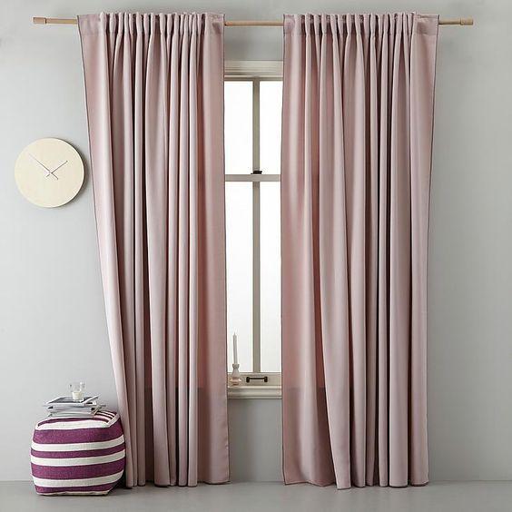 Pale Pink - Fantastic Bedroom Curtain Ideas