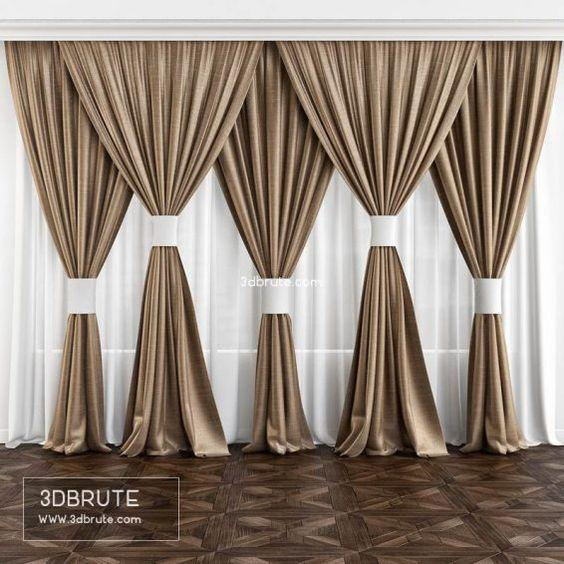 A Set of Gold Curtains - For a Larger Bedroom